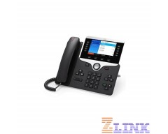 Cisco IP Phone CP-8851 with 5 Lines Open-SIP and USB/Bluetooth (CP-8851-3PCC-K9)